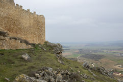 Soria from the castle of Gormaz. In Soria, Spain Royalty Free Stock Photo