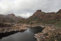 Soria Lake i Gran Canaria Royaltyfria Foton