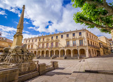 Soria Plaza Mayor. The City hall of the city of Soria, Castilla y Leon, Spain. The Palacio de los Linajes is located in the main square (Plaza Mayor) of the city Stock Image