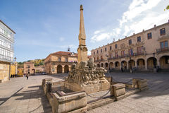 Soria. SPAIN - NOVEMBER 2, 2016: Council of  City and main square  in , Spain. In the center of the square, find the Fountain of Lions Royalty Free Stock Photos