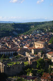Soriano Calabro, a small town at the foot of the Sila in Calabria Royalty Free Stock Photos