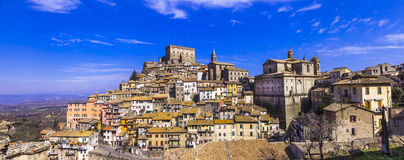 Soriano nel cimino - medieval town. Panorama of Soriano nel cimino - authentic medieval town in Lazio, Italy Stock Photography