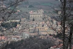 Soriano nel Cimino overview. Soriano nel Cimino ancient town overview Viterbo, Lazio, central Italy royalty free stock image