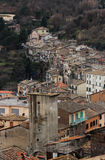 Soriano nel Cimino overview. Soriano nel Cimino ancient town overview Viterbo, Lazio, central Italy royalty free stock photography