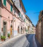 Soriano nel Cimino in a summer morning, province of Viterbo, Lazio, central Italy. Soriano nel Cimino is a town and comune in the province of Viterbo, Lazio Stock Photos