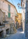 Soriano nel Cimino in a summer morning, province of Viterbo, Lazio, central Italy. Soriano nel Cimino is a town and comune in the province of Viterbo, Lazio Stock Images