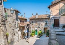 Soriano nel Cimino in a summer morning, province of Viterbo, Lazio, central Italy. Soriano nel Cimino is a town and comune in the province of Viterbo, Lazio Stock Photo