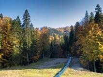 Sorica sky run. View of Sorica sky run in autumn Royalty Free Stock Photos
