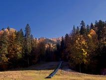 Sorica sky run. View of Sorica sky run from Azuga, Romania Royalty Free Stock Photo