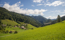 Sorica village, Slovenia. Sorica village in the west part of Slovenia royalty free stock photography