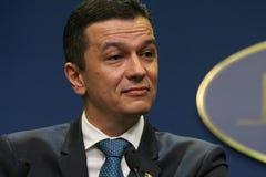 Sorin Grindeanu sans ministres - gouvernement roumain - la politique images stock