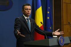 Sorin Grindeanu sem ministros - o governo romeno - política imagem de stock royalty free