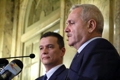 Sorin Mihai Grindeanu - πρόταση για τον πρωθυπουργό Ρωμαίου Στοκ εικόνα με δικαίωμα ελεύθερης χρήσης