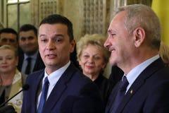 Sorin Mihai Grindeanu - förslag för premiärministern av romaren Arkivbilder