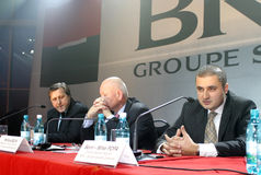 Sorin-Mihai Popa. Sorin Popa gave up the office of member of the Board of Directors of BRD - Groupe Societe Generale (BRD), according to an announcement of banks Stock Photo