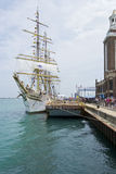 Sorlander docked at Navy Pier. May be used to advertise for tall ships exhibit at Navy Pier Royalty Free Stock Images