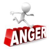 Sormonti la rabbia Immagini Stock Libere da Diritti