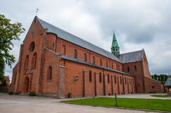 Soro Abbey Church. In town of Soro in Denmark royalty free stock photo