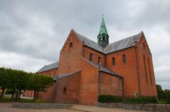 Soro Abbey Church. In town of Soro in Denmark royalty free stock photography