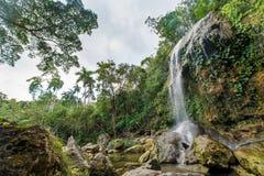 SOROA瀑布,山脉罗萨里奥生物圈储备 库存照片