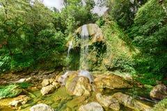 Soroa vattenfall - Pinar del Rio, Kuba arkivbilder