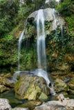 SOROA-WASSERFALL, Sierra Rosario Biosphere Reserve, Pinar del Rio, Kuba Lizenzfreie Stockfotografie