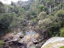 Soroa waterfall, Pinar del Rio, Cuba.  royalty free stock image