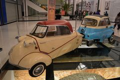 Sorocaba, Brazil thirty august two thousand and fourteen. Ancien. Ancient in exhibition cars in the shopping royalty free stock image