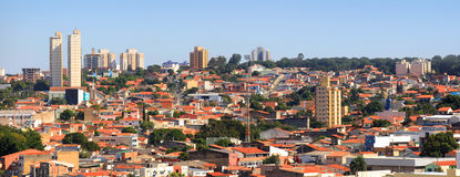 Sorocaba cityscape. SOROCABA, BRAZIL -May 6: Downtown Sorocaba in Brazil on May 06, 2015 in Sorocaba.Eigth largest city in Sao Paulo state , Its export to over Royalty Free Stock Image
