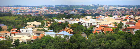 Sorocaba Panorama. SOROCABA, BRAZIL - JANUARY 17: Downtown Sorocaba in Brazil on January 17, 2013 in Sorocaba.Eigth largest city in Sao Paulo state , Its export Stock Photography