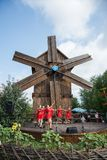 Sorochinskaya Fair, a mill, dancing girls. Mirgorod. Ukraine. Sorochinskaya Fair, a mill, dancing girls. Mirgorod Royalty Free Stock Image