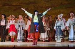 Sorochintsy Fair. DNIPROPETROVSK, UKRAINE – MARCH  4, 2016: Ukranian musical Sorochintsy Fair performed by members of the Dnipropetrovsk State Opera and Ballet Stock Photo