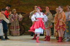 Sorochintsy Fair. DNIPROPETROVSK, UKRAINE – MARCH  4, 2016: Ukranian musical Sorochintsy Fair performed by members of the Dnipropetrovsk State Opera and Ballet Stock Images