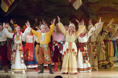 Sorochintsy Fair. DNIPROPETROVSK, UKRAINE - NOVEMBER 29, 2015: Ukranian musical Sorochintsy Fair performed by members of the Dnipropetrovsk State Opera and Stock Images