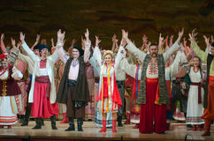 Sorochintsy Fair. DNIPROPETROVSK, UKRAINE - NOVEMBER 29, 2015: Ukranian musical Sorochintsy Fair performed by members of the Dnipropetrovsk State Opera and Stock Image