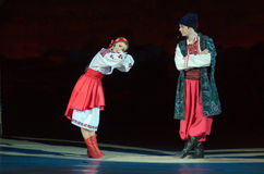 Sorochintsy Fair. DNIPROPETROVSK, UKRAINE - NOVEMBER 29, 2015: Ukranian musical Sorochintsy Fair performed by members of the Dnipropetrovsk State Opera and Stock Photo