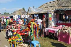 Sorochintsy Fair in Velyki Sorochyntsi, Ukraine. Velyki Sorochyntsi -August 20, 2016: Ukrainian souvenirs during Sorochintsy Fair in Velyki Sorochyntsi, Ukraine Royalty Free Stock Photography