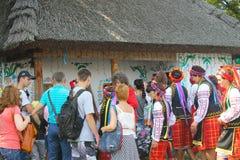 Sorochintsy Fair in Velyki Sorochyntsi, Ukraine. Velyki Sorochyntsi -August 20, 2016: Unidentified people walking on the Sorochintsy Fair in Velyki Sorochyntsi Royalty Free Stock Photography