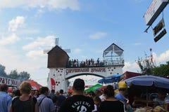 Sorochintsy Fair in Velyki Sorochyntsi, Ukraine. Velyki Sorochyntsi -August 20, 2016: Unidentified people walking on the Sorochintsy Fair in Velyki Sorochyntsi Stock Photo