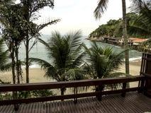 Sorocotuba strand i Guaruja, Brasilien royaltyfri bild