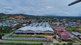Sorong City. Beautiful Sorong City from 30ft Stock Photos