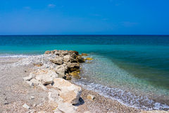 Soroni Beach Rhodes. Soroni Beach on the Aegean coast of Rhodes Island Dodecanese Greece Europe Royalty Free Stock Photo