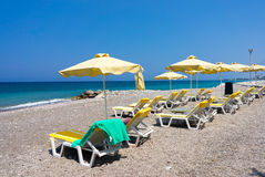 Soroni Beach Rhodes. Soroni Beach on the Aegean coast of Rhodes Island Dodecanese Greece Europe Royalty Free Stock Photography