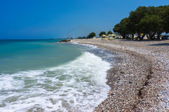Soroni Beach Rhodes. Soroni Beach on the Aegean coast of Rhodes Island Dodecanese Greece Europe Royalty Free Stock Image