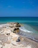 Soroni Beach Rhodes. Soroni Beach on the Aegean coast of Rhodes Island Dodecanese Greece Europe stock photo