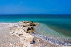 Soroni strand Rhodes Royaltyfri Foto
