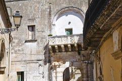 Soronzi palace. Presicce. Puglia. Italy. Stock Images