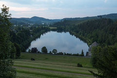 Sorpesee lake outlet sauerland germany Royalty Free Stock Photography