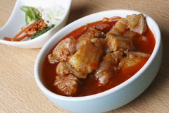 Sorpotel is a spicy pork curry from portuguese Stock Photography