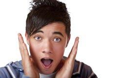 Sorprenden al adolescente masculino joven Imagen de archivo